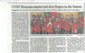 Bericht Wintertrophy Wels Braunauer Warte
